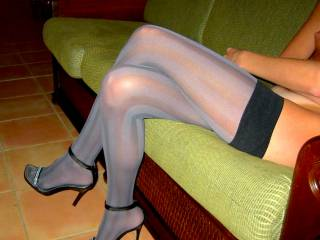 beautiful legs wrapped up in hot stockings