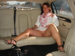 Oh you have one very arousing married pussy. I love this view of your legs and thighs in this outfit. I do hope you share more from this moment.