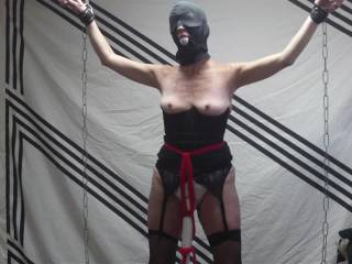 The wife in bondage cuming till it hurts