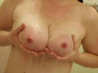 who wants a titty fuck in the shower?
