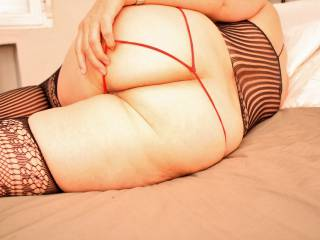 red and black lingerie