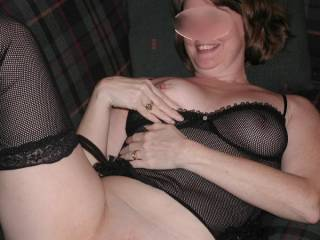 You look terric.  I'd love to fondle, suck, nibble you wonderful tits nd lick you marvelous pussy.