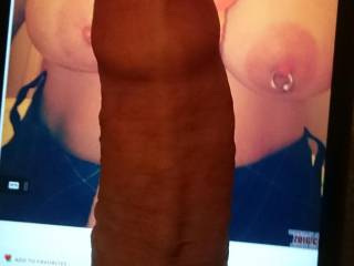 I just had to see how my big cock would look between CandyBlueEyes beautiful tits. I wish it was my dick instead of her toy!
