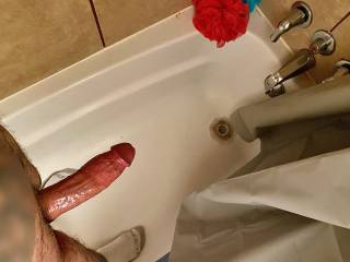 Thought my cock was looking rock hard before my shower. I need a tight hole to sink this hard on. Ideas?