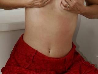 i love lickin my titties,anybody else wanna taste them?