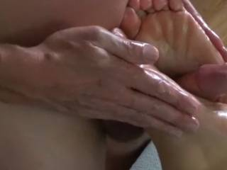 He told me to close my feet tightly around his cock, and held them together as he oiled and rubbed my feet... would you enjoy this??