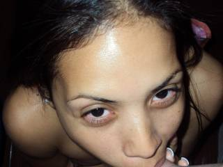 There is no cock that my wife can not deepthroat! Not only will she take you balls deep, but she will lick your balls with her tongue while your cock is down her throat!
