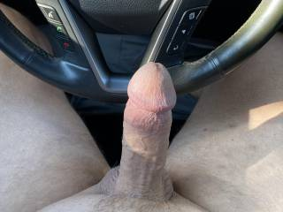 Had a hot chat today in the car. Love being exposed and hard outside