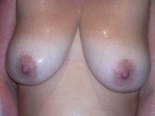 Mmmmmm I fancy to touch, to lick and to suck on your beautiful tits and those rock hard nipples begging for all the above!!