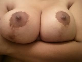 My stiff cock would slide in there nicely... I would love to lick, suck, and pinch those beautiful nipples first though.