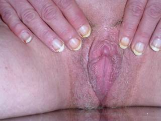 Beautiful pussy with a beautiful clit, all very lickable