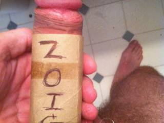 See how thick my cock is?  Bet if will fit real nice inside you.  Anyone wanna take it for a ride?