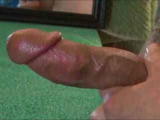 A night of playing. Cock on Camera