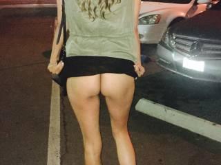 Flashing me through a parking lot