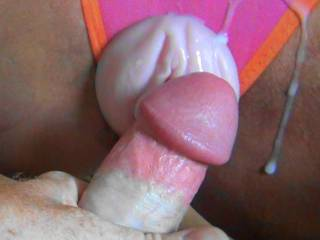 Shot my warm cum all over her panty fleshlight tribute! Post a picture of you with my cock and Ill tribute you!