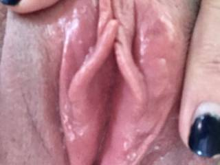 Dripping wet....in need of some serious tongue action...