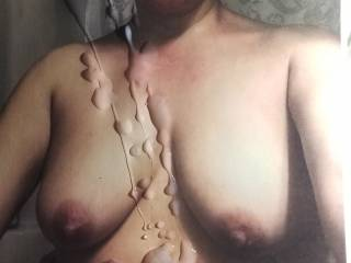 Melissa of slytxguy gorgeous sexy tits and beautiful big nipples had me so aroused I couldn\'t resist nor hold back covering her.