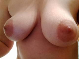 My vuluptous tis are ready for some licking and sucking from my husband. He can throw in a nice titty fuckif he pleases.