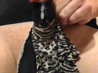 Jerking my hard cock with GF's panties! Love pumping hot cum on them while on Zoig cam chat!