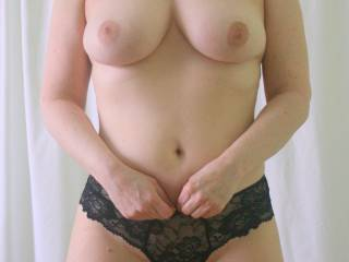 New black panties and some titties!