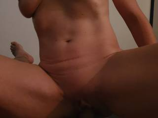Evening fun, She\'s in charge and enjoying a hard dick deep in her pussy
