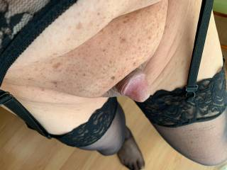 One of my Z friends wanted to see me in black stockings and black garter belt.