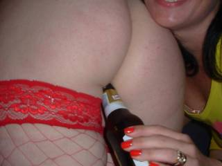 From my World Cup party. We had lost the bottle opener but Dawn's ass was useful!! xxx