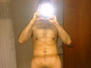 Body shot and erect cock
