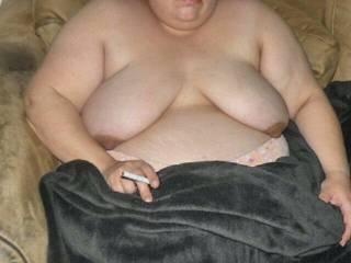 Fat bbw smoken smoking big tits big tittys fat tits smoken tits