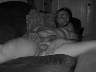 if my wife found me naked in front of the camera, she\'d have been pissed. good thing she through the night.