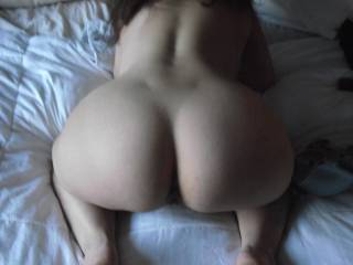 Damn I'd love to grab your hips and slam my cock deep inside you, then when I couldn't take it anymore I'd pull out and shoot all over your sexy ass...
