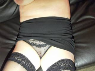 Mmmm!!! Pull your pants aside and let me wank off over your smooth shaven pussy and splash my hot thick cum all over it!!! xxx