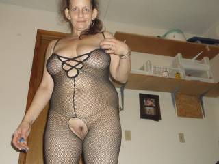wow yes love your sexy crotchless out fit Beautiful kiss kiss fore your sweet pussy xx