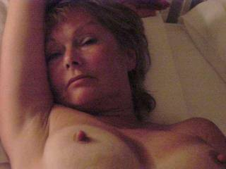 Hello gorgeous.  Luv those perky nipples - - I would cum all over them after licking and sucking them...mmmmmMMMMMMMMMM