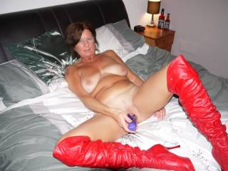 Soooo fucking hot and sexy! I want to bury my cock deep in your pussy and feel those boots wrapped around my back pulling me deep inside
