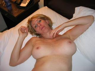 Please, let me suck for a long time on your incredible nipples. Would than take the cource very slowly to youre pussy and lick sensualy your clit and move my tongue up and down on your labia till you have to cum very wet several times.