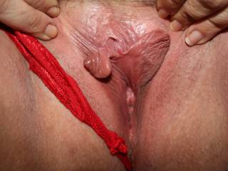 Lovely pussy, and sweet clit..