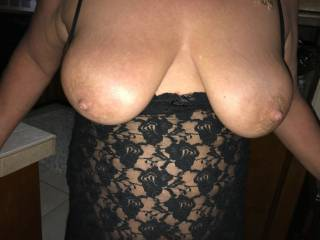 wife`s 40D tits