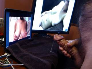 2 of 2. Stills from a short video, masturbating and cumming with Cataria.