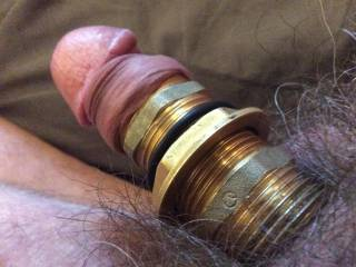 Cock modification using rubber and brass rings