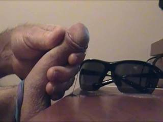 Cumming all over my sunglasses...I hope you like...I loved making it for you