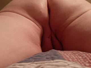 Nice view of my ass and pussy while I am tied down to the bed!