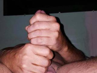 two hands jerk off...wanna help out??  give me jerk off instruction!!