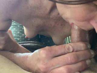 Good wife swallows every drop. What do you think of her?