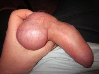 My balls in my hand, my prick getting bigger, the wanking process is about to begin!!!!
