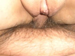Deep in my pussy..... I love when he fills me with cum :)