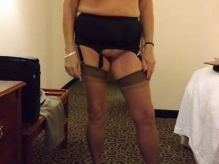 your ex must be such a loser you are so hot and sexy.  would luv to see go out with that outfit with only a sheer blouse and short skirt on top.  all of us guys would be buying you drinks all night just so we could perv over your body before taking you home and fucking you hard