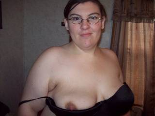 it would feel great to gently pinch her nipples to hold hold her breasts up on my legs as she sucks the head of my cock...