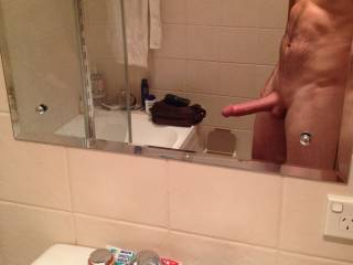 Bend me over that sink n fuck both my holes you hot stud
