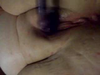 me playing with wifes new toy she gets really wet
